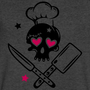 Skull girlie with cooking hat - Men's V-Neck T-Shirt by Canvas