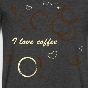 Coffee shirt with coffee stains - Men's V-Neck T-Shirt by Canvas