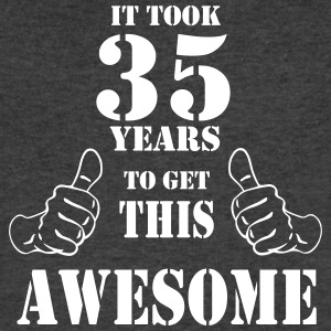 35th Birthday Get Awesome T Shirt Made in 1982 - Men's V-Neck T-Shirt by Canvas