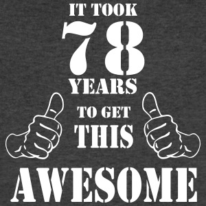 78th Birthday Get Awesome T Shirt Made in 1939 - Men's V-Neck T-Shirt by Canvas
