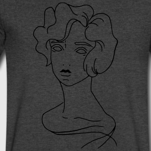 Lady - Men's V-Neck T-Shirt by Canvas