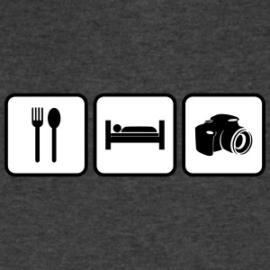 eat sleep photography - Men's V-Neck T-Shirt by Canvas