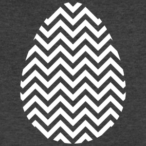 Easter Egg Chevron White - Men's V-Neck T-Shirt by Canvas