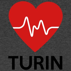 Heart Turin - Men's V-Neck T-Shirt by Canvas