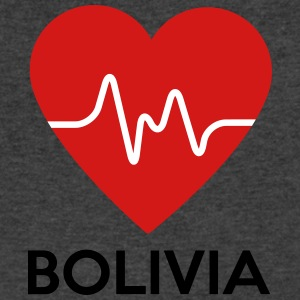 Heart Bolivia - Men's V-Neck T-Shirt by Canvas
