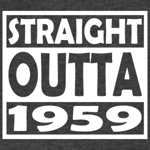 58th Birthday T Shirt Straight Outta 1959 - Men's V-Neck T-Shirt by Canvas