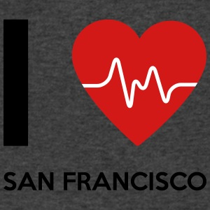 I Love San Francisco - Men's V-Neck T-Shirt by Canvas
