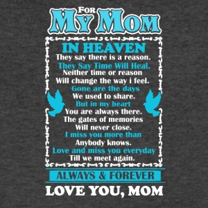 Mom In Heaven Shirt - Men's V-Neck T-Shirt by Canvas