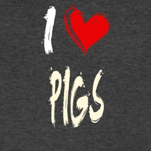 I love PIGS - Men's V-Neck T-Shirt by Canvas