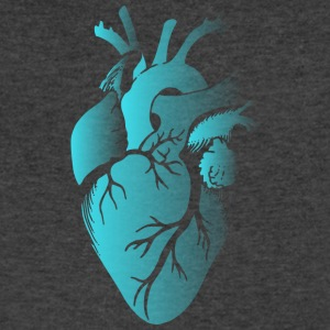 Blue Fading Heart - Men's V-Neck T-Shirt by Canvas