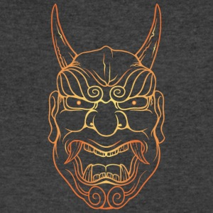laughing_demon_with_long_horn_gold - Men's V-Neck T-Shirt by Canvas