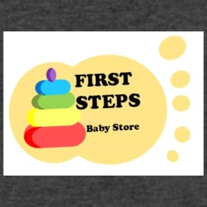 fist steps - Men's V-Neck T-Shirt by Canvas