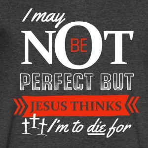 Jesus thinks I'm to die for - Men's V-Neck T-Shirt by Canvas