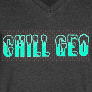 Chill. Geo Merchandise - Men's V-Neck T-Shirt by Canvas