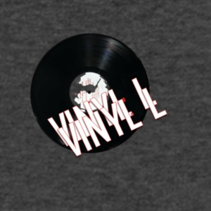 vinyll logo - Men's V-Neck T-Shirt by Canvas