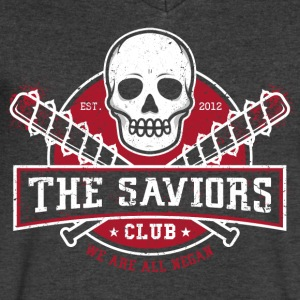 The Saviors Club T Shirrt - Men's V-Neck T-Shirt by Canvas