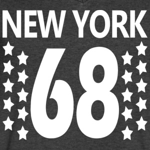New York 68 - Men's V-Neck T-Shirt by Canvas