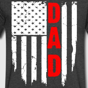 DAD US FLAG - Men's V-Neck T-Shirt by Canvas