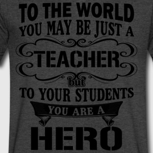Gift for teacher - Teaching hero - Men's V-Neck T-Shirt by Canvas