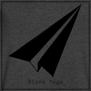 Blank Page Paper Airplane - Men's V-Neck T-Shirt by Canvas