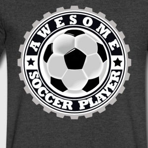 Symbol of an Awesome Soccer Player - Men's V-Neck T-Shirt by Canvas