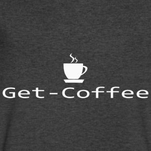 Get Coffee T Shirt - Men's V-Neck T-Shirt by Canvas
