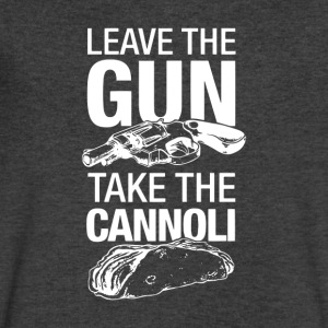 Leave The Gun Take The Cannoli - Men's V-Neck T-Shirt by Canvas