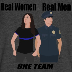 One Team: Police - Men's V-Neck T-Shirt by Canvas