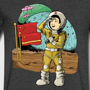 Chinese Space Boy - Men's V-Neck T-Shirt by Canvas