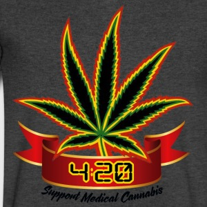 support_medical_cannabis_420 - Men's V-Neck T-Shirt by Canvas