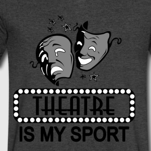Theatre Is My Sport. - Men's V-Neck T-Shirt by Canvas