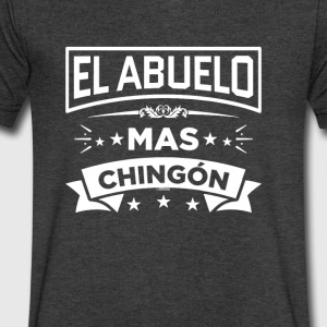 Abuelo Mas Chingon Funny Spanish T-Shirt - Men's V-Neck T-Shirt by Canvas