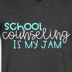 School Counseling is my Jam - Men's V-Neck T-Shirt by Canvas