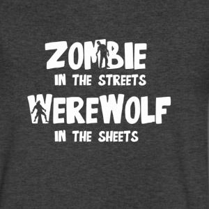 Zombie In The Streets - Men's V-Neck T-Shirt by Canvas