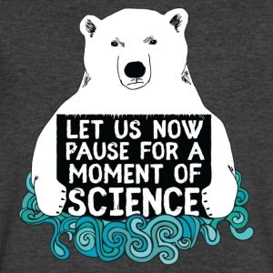Science Bear, Let Us Now Pause For A Moment - Men's V-Neck T-Shirt by Canvas