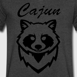 see throw cajun coon icon - Men's V-Neck T-Shirt by Canvas