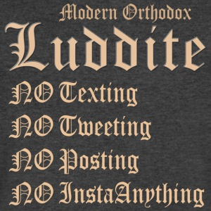 Modern Orthodox Luddite A1 T Shirt - Men's V-Neck T-Shirt by Canvas
