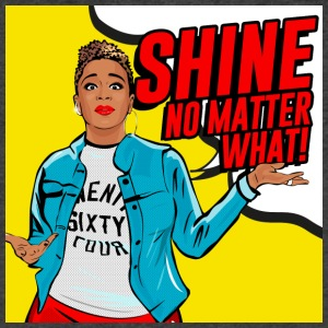 Shine No Matter What - Men's V-Neck T-Shirt by Canvas