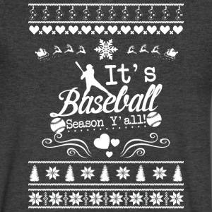 Merry Christmas Baseball T Shirt - Men's V-Neck T-Shirt by Canvas