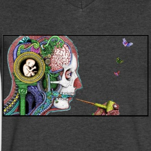 hallucination - Men's V-Neck T-Shirt by Canvas