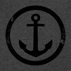 Vintage anchor - Men's V-Neck T-Shirt by Canvas