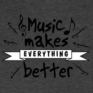 Music Makes Everything Better - Men's V-Neck T-Shirt by Canvas