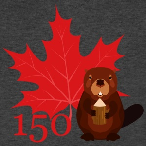 Canada 150 - Beaver - Men's V-Neck T-Shirt by Canvas