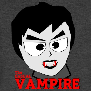 the casual vampire - Men's V-Neck T-Shirt by Canvas
