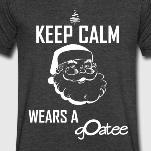 santasgoatee - Men's V-Neck T-Shirt by Canvas