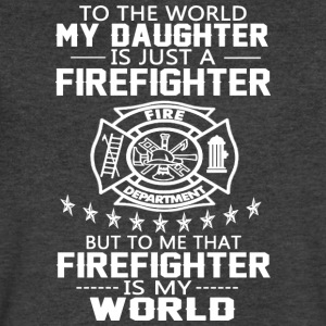 MY DAUGHTER IS FIREFIGHTER T Shirt - Men's V-Neck T-Shirt by Canvas
