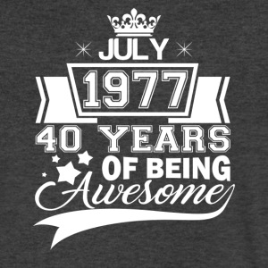 Born in July 1977, 40 years of being awesome - Men's V-Neck T-Shirt by Canvas
