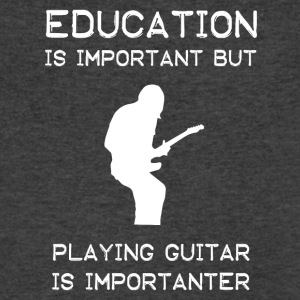 Playing Guitar is importanter than education - Men's V-Neck T-Shirt by Canvas