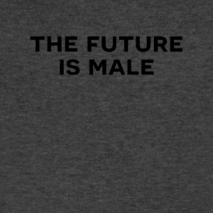 The future is male - Men's V-Neck T-Shirt by Canvas