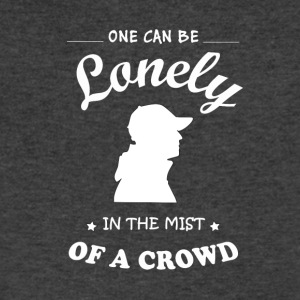Once can be lonely in the mist of a crowd - Men's V-Neck T-Shirt by Canvas